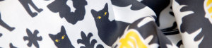 Black Cat Damask fabric by Lellobird at Spoonflower