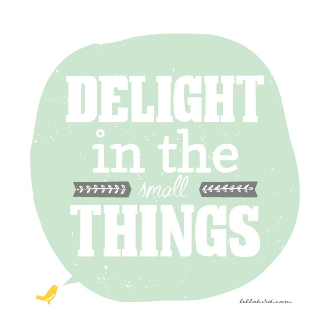 Delight in the Small Things illustration by Lellobird