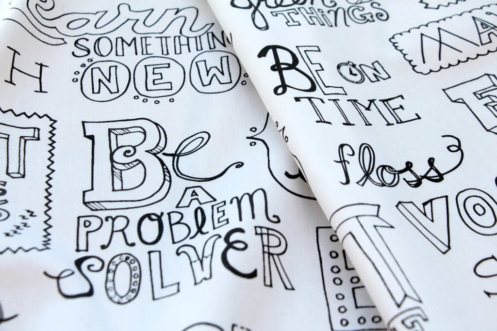 Manifesto fabric by Lellobird at Spoonflower