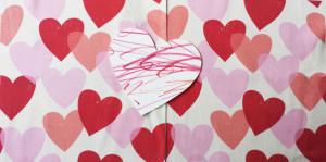Tissue Hearts fabric by Lellobird