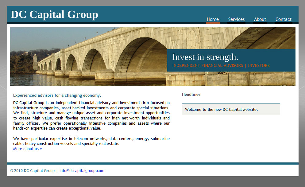 Website for DC Capital Group by Lellobird