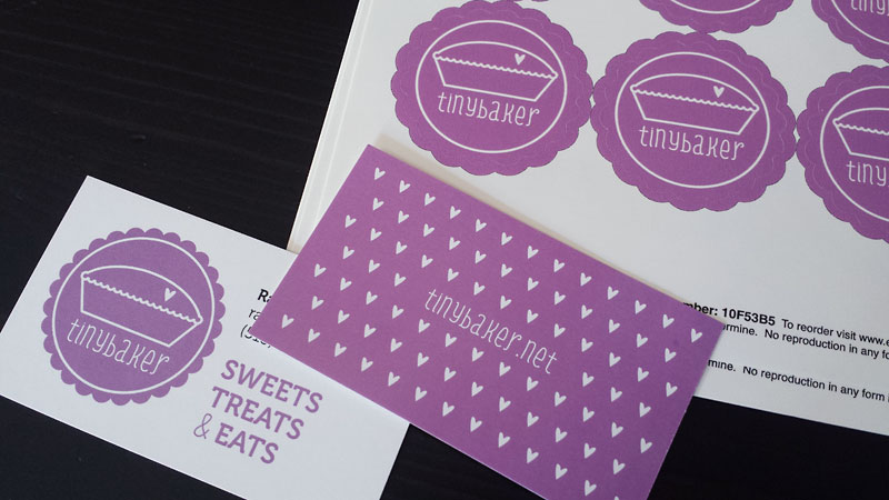 Tiny baker business cards lellobird tiny baker business cards colourmoves