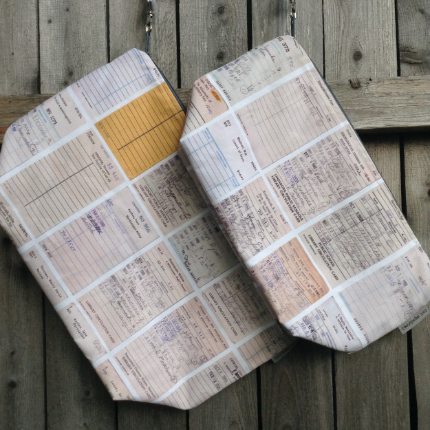 Library Nostalgia bags by Fat Squirrel Fibers