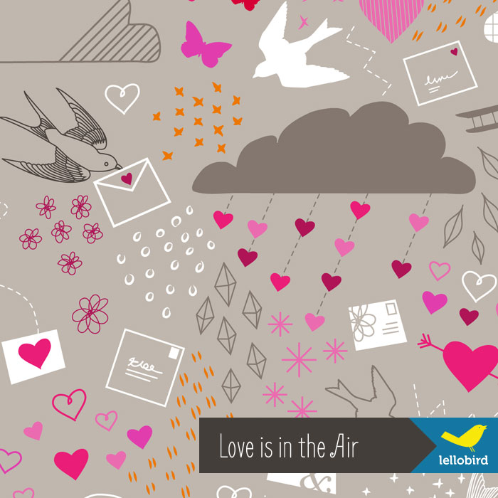 Love is in the Air fabric by Lellobird
