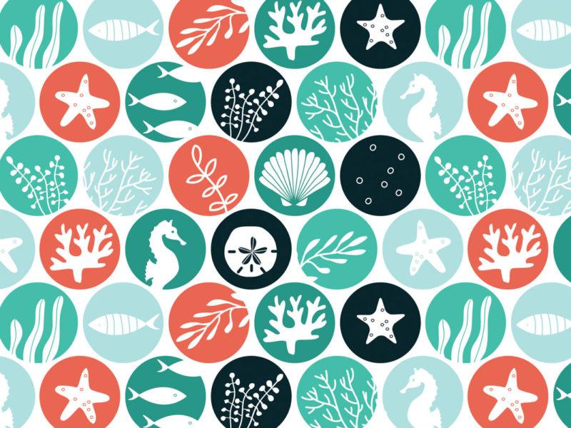 Ocean Dots fabric by Lellobird