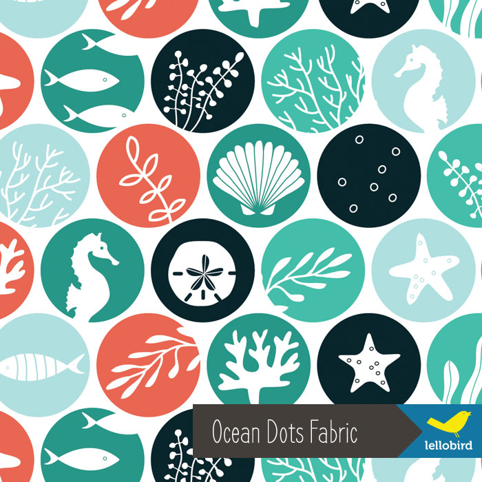 Ocean Dots fabric by Lellobird