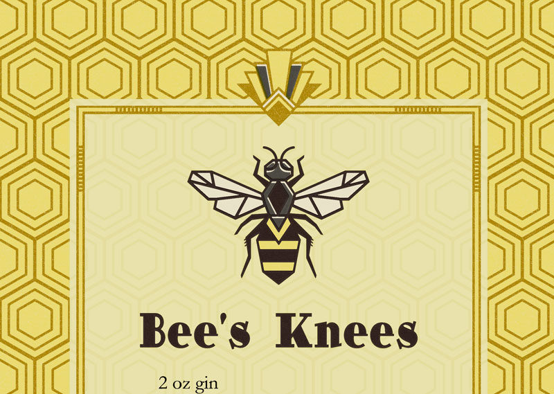The Bee's Knees tea towel by Lellobird