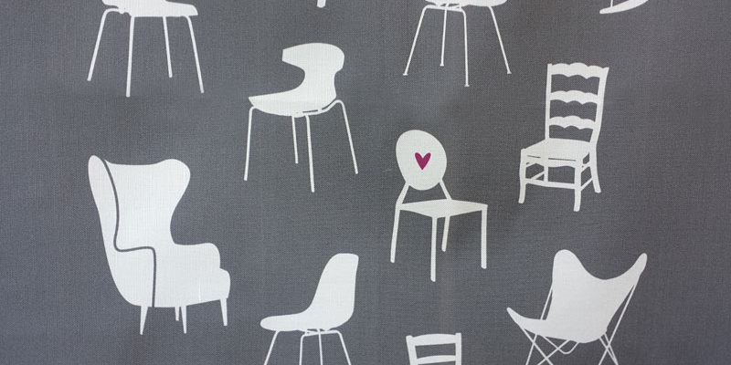 Lovely Chairs tea towel by Lellobird