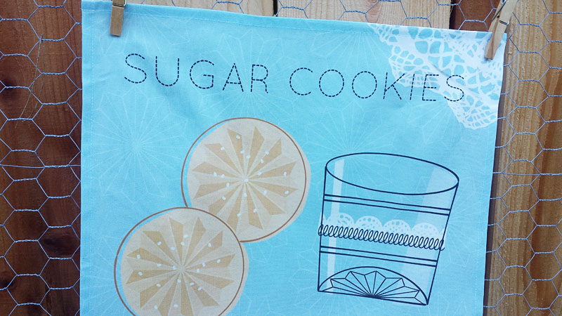 Grandma's Sugar Cookies tea towel by Lellobird at Spoonflower