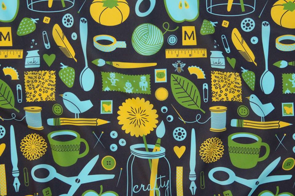 The Craftroom fabric by Lellobird - photo by Spoonflower