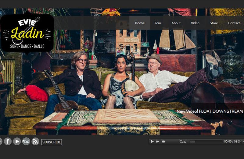 Website design by Lellobird for Evie Ladin