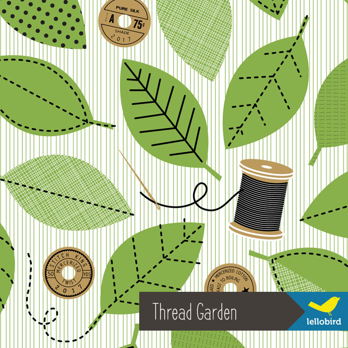 Thread Garden fabric by Lellobird