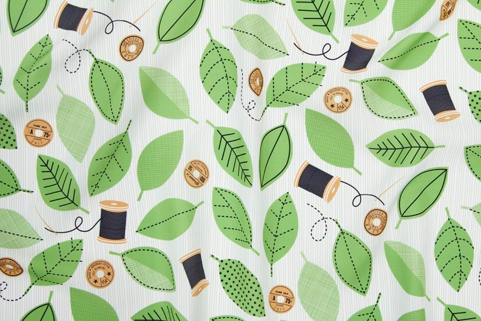Thread Garden fabric by Lellobird, photo by Spoonflower