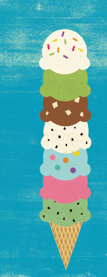 Ice cream cone illustration by Lellobird