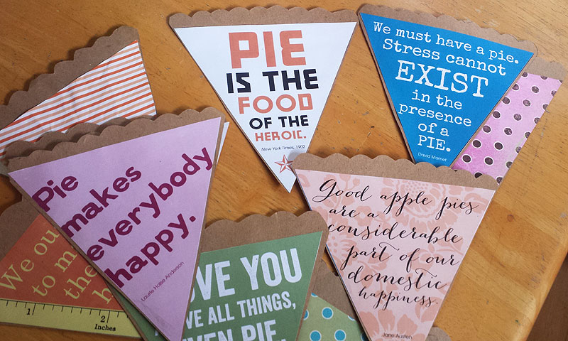 Printable Pi(e) Day bunting by Lellobird