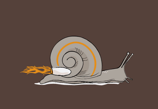 Rocket Snail illustration by Lellobird