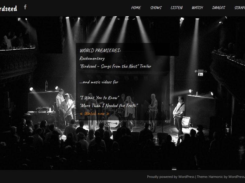 Birdseed band website by Lellobird