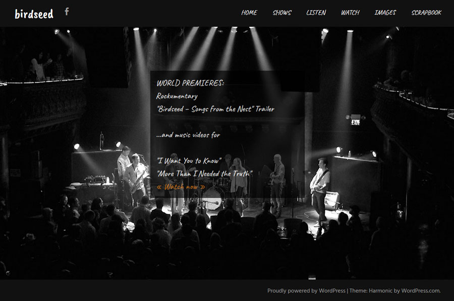 Birdseed band website by Lellobird