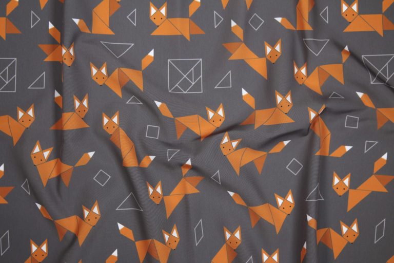 Boxy Foxy fabric by Lellobird, photo by Spoonflower