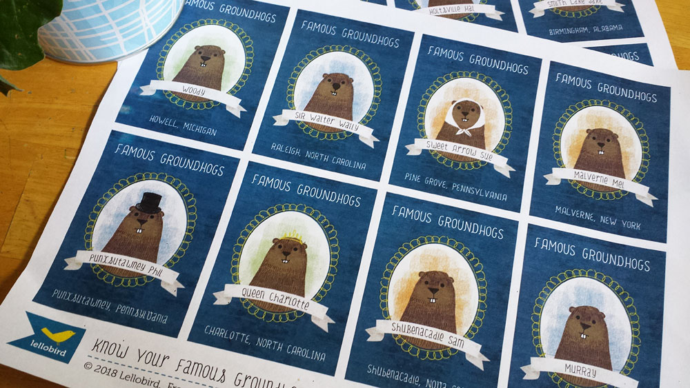 Know Your Famous Groundhogs trading cards by Lellobird