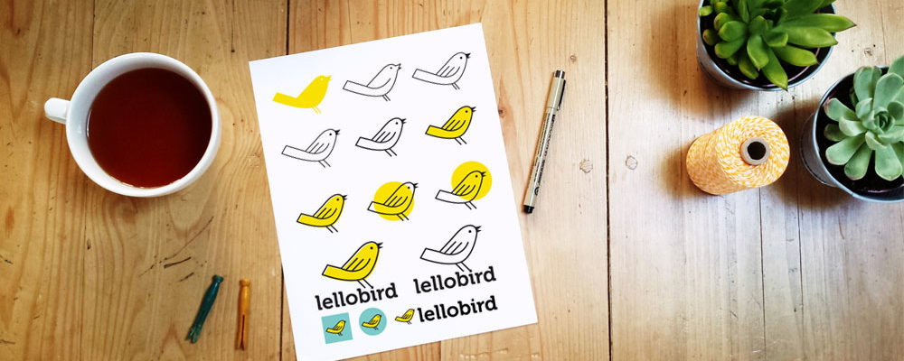 The evolution of the Lellobird logo