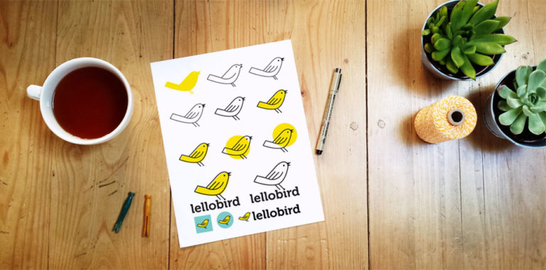 The evolution of the Lellobird logo