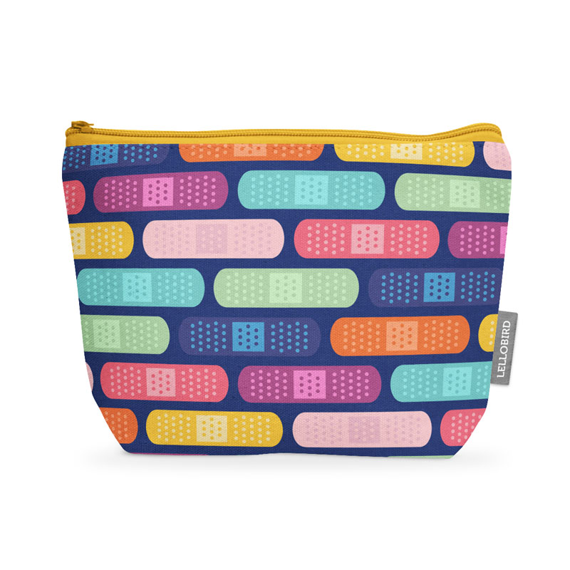 First aid kit mockup with Bandage Stripe fabric by Lellobird