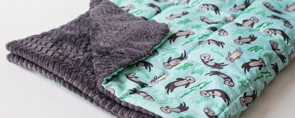 Weighted blanket by Weighted Works with Significant Otters fabric