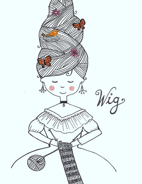 Wig illustration by Lellobird