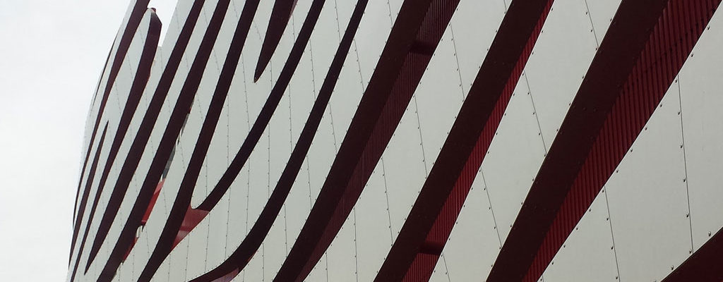 Exterior of Petersen Automotive Museum in LA
