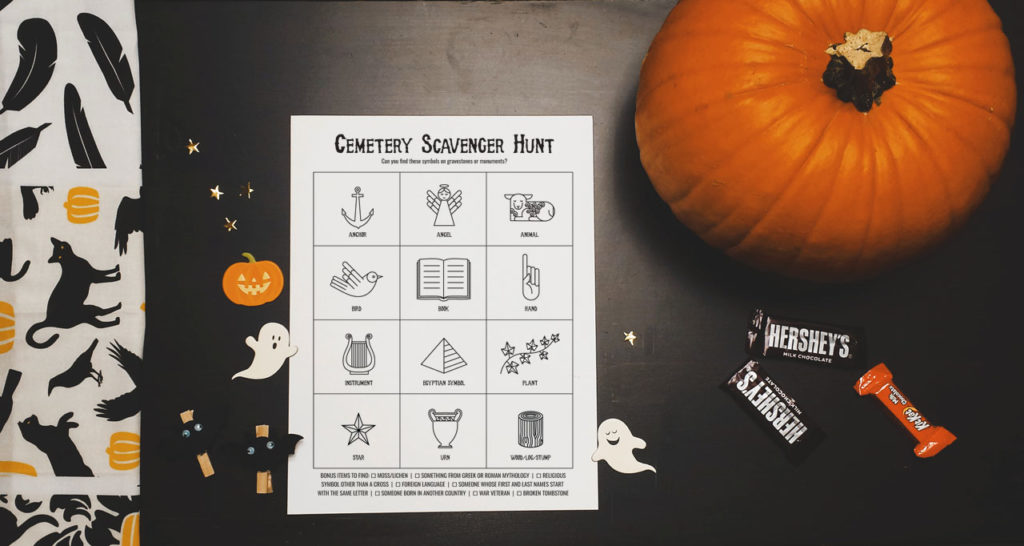 Cemetery Scavenger Hunt printable by Lellobird