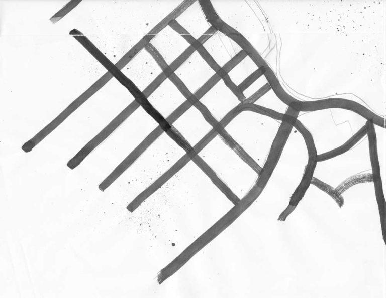 Inky road for Lake Merritt map