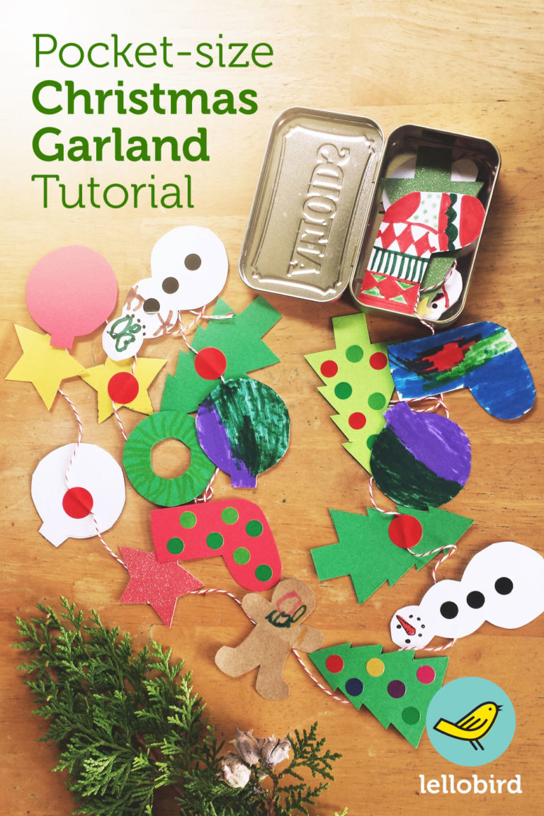 Pocket-size Christmas Garland Tutorial by Lellobird