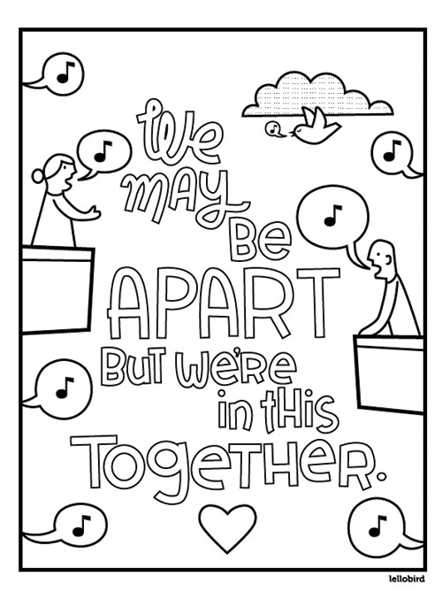 Apart Together coloring page by Lellobird - preview