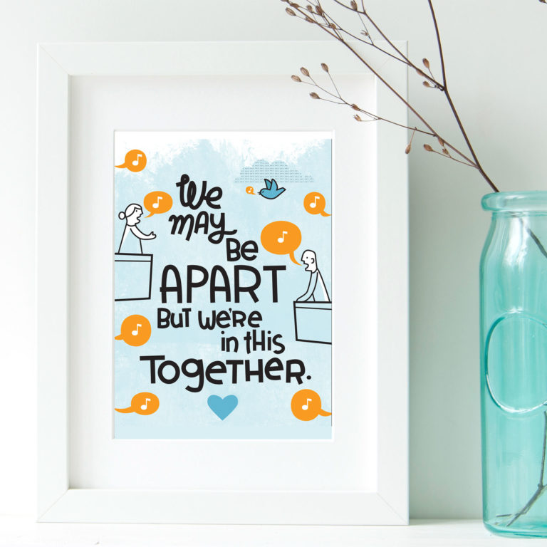 Apart Together poster design by Lellobird