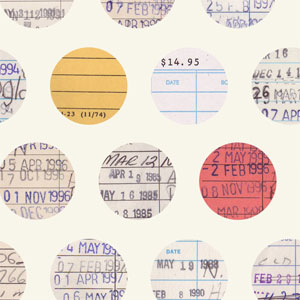 Library Dot fabric by Lellobird