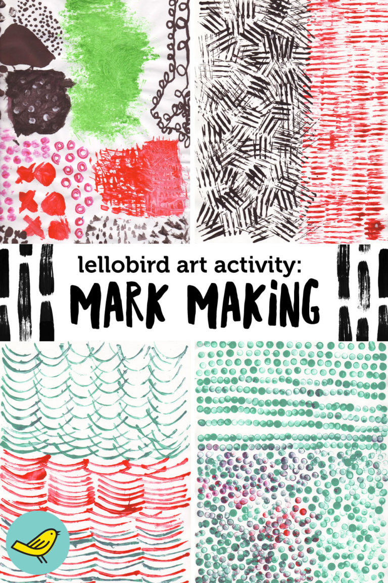 Lellobird Art Activity: Mark Making