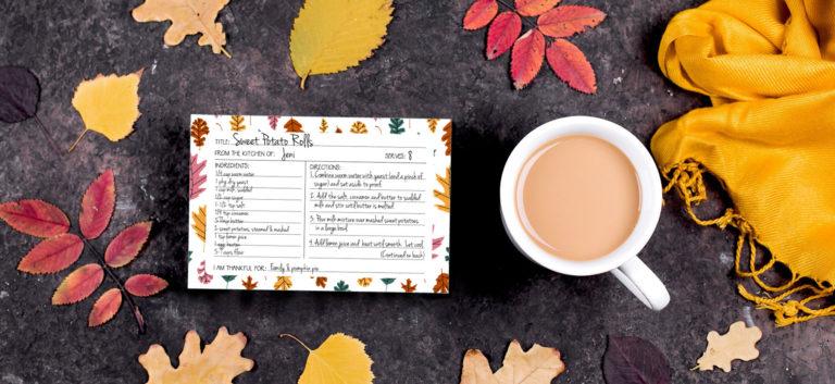 Autumn recipe card printable from Lellobird