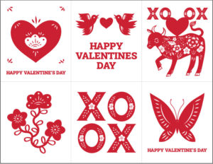XO Ox Valentines Printable by Lellobird