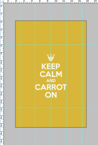 Keep Calm & Carrot On dimensions
