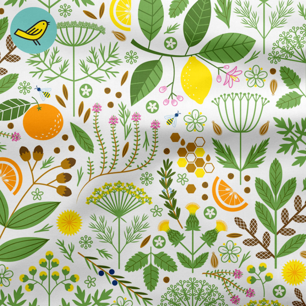 It's a Snap Botanical surface design by Lellobird